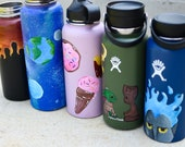 Custom Handpainted HydroFlask | Fandom Inspired HydroFlask | Painted Water Bottle | Customized HydroFlask | Galaxy Hydroflask | Fire Flask