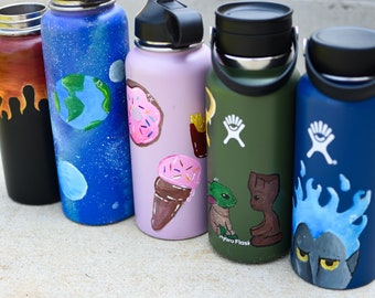 Painted Water Bottle Etsy