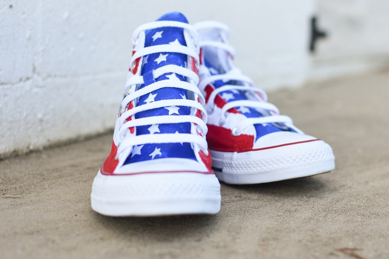 Custom Hand Painted Trump Shoes Painted American Flag ayfgHFoI