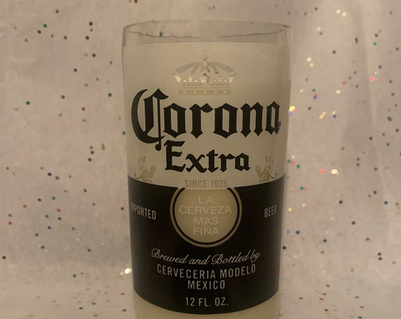 CORONA EXTRA recycled upcycled beer bottle candle/scented beer bottle soy wax candle/recycled Corona beer bottle candle/gift for bar/