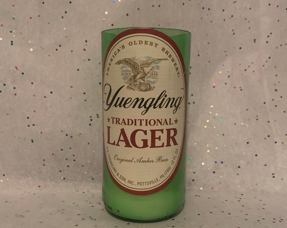 YUENGLING TRADITIONAL LAGER recycled upcycled beer bottle candle/scented beer bottle soy wax candle/Yuengling beer bottle candle/