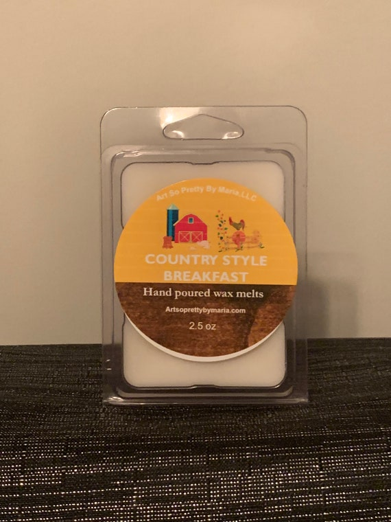 COUNTRY STYLE BREAKFAST scented wax melts/bacon-maple syrup scented wax melts/pancake scented wax melts/breakfast scented wax melts/2.5oz