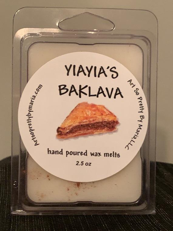 YIAYIA'S BAKLAVA MELTS/Baklava scented wax melts/Greek wax tarts/wax melts/scented wax melts/Yiayia's Baklava Scented Wax Melts/