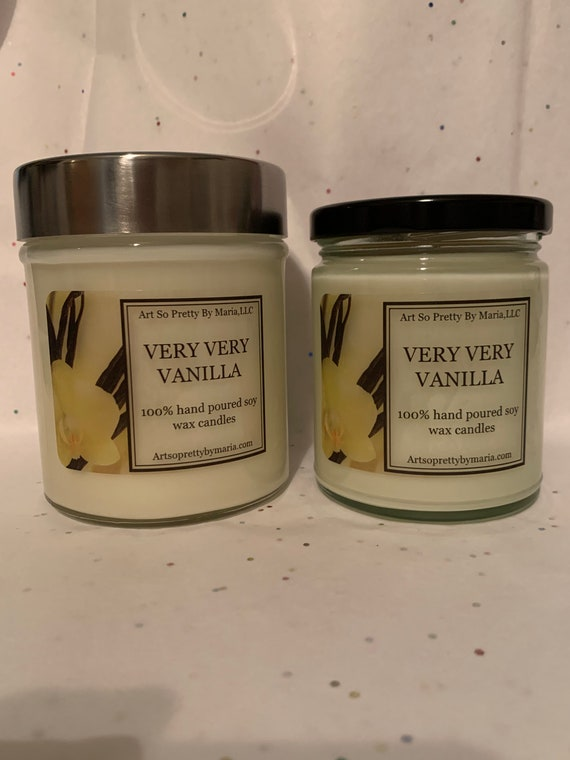 VANILLA Scented soy wax candle/scented soy wax candle/best selling candles/gift for mom/vanilla scented candles/luxury candle/elegant candle