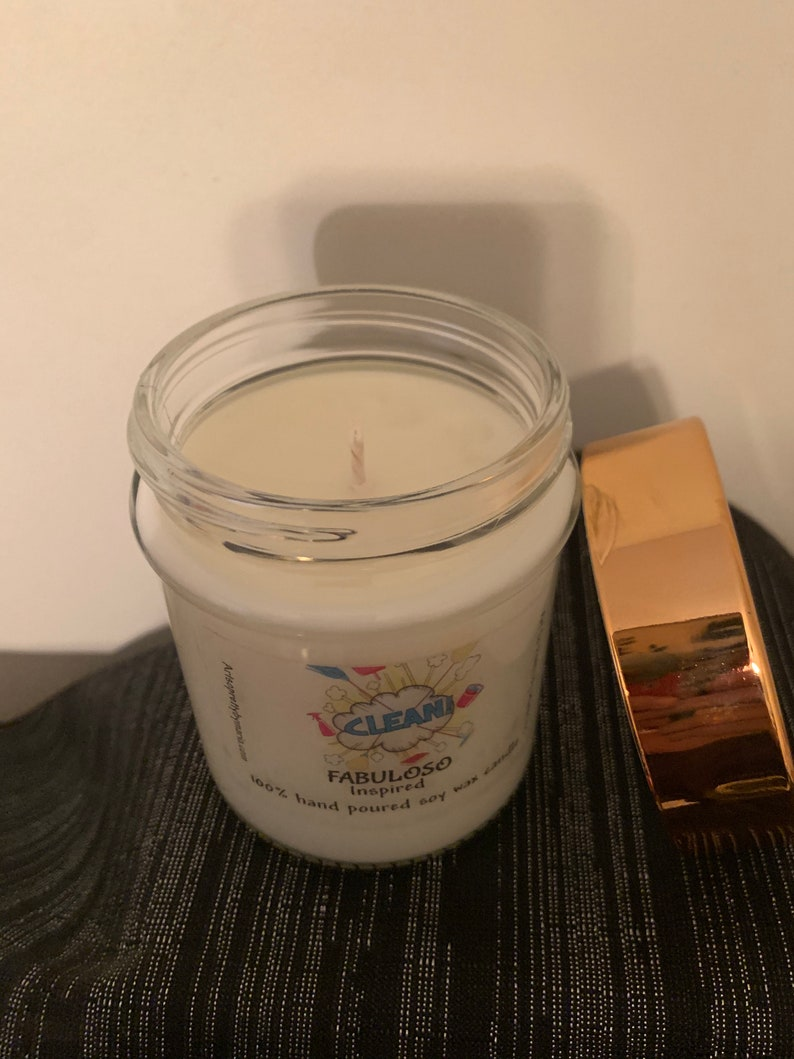 FABULOSO inspired highly scented soy wax candlefun candleclean candleHispanicLatinMexican candleHome decorgift for mom 10 oz jar