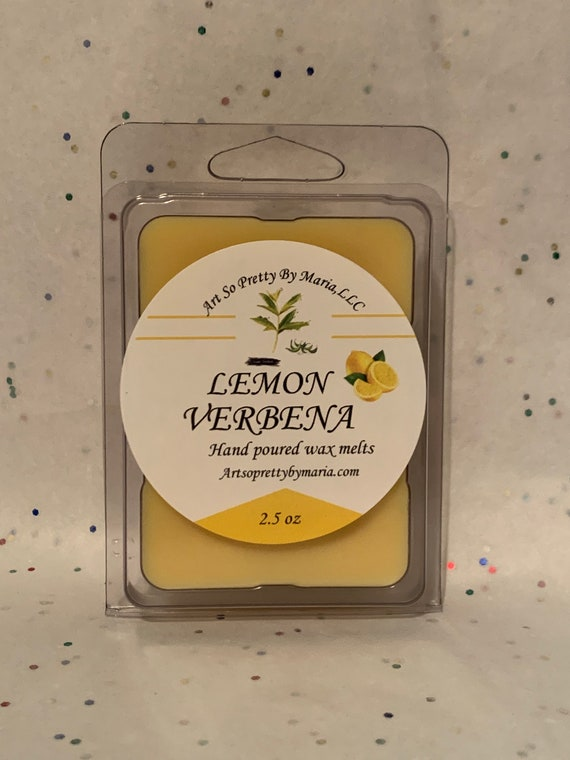 LEMON VERBENA scented wax melts/lemon scented wax melts/sweet scented wax melts/summer scented wax melts/best selling wax melts/2.5 oz