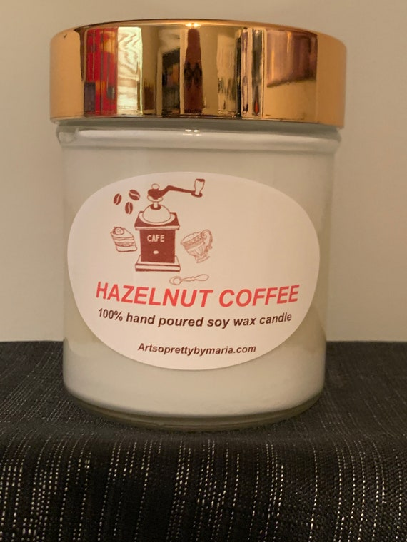 HAZELNUT COFFEE highly scented soy wax candles/coffee scented candles/aromatic candles/gift for mom/best seller/coffee candle/