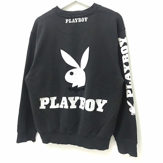 VIP Playboy Crewneck Sweatshirt Embroidery Big Logo Spell Out Pullover Fashion Style  Top Brands  Streetwear  Small Size  Urban Style