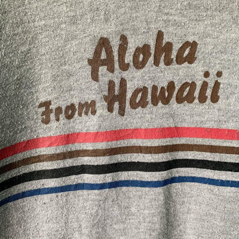 PICK! Vintage Hawaii Aloha Hoodie Hawaii Aloha Hoodie Pullover Hawaii Aloha Big Image Spellout Surf Hoodie Size L