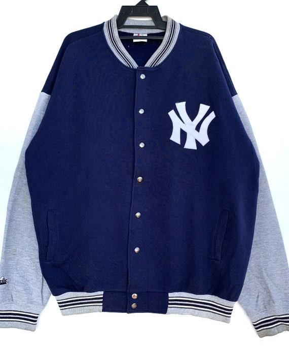 VIntage NY Yankees Varsity Sweater Big Logo Embroi