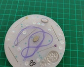 Resin sewing coaster . Great gift for sewer sewing machinest