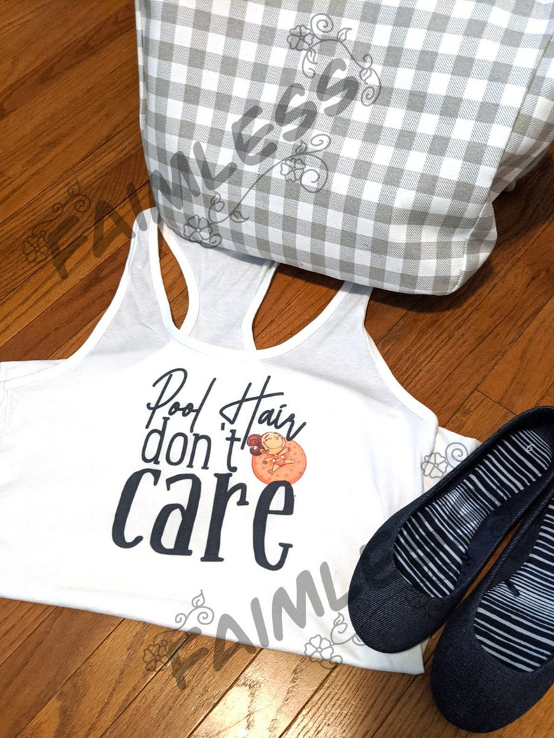 spring Summer Adult Swimming don/'t care Pool Hair Racerback Tank Woman/'s funny