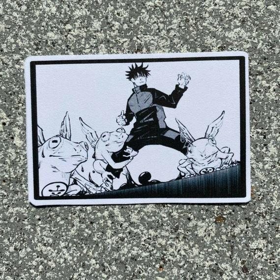 Custom Unisex Anime Manga Tote Jujutsu Kaisen Gama Frog Green Zip Tote Megumi Fushiguro Handbag Shikigami Demon Carryon