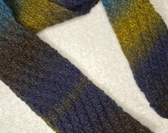 Hand Knitted Textured Wool Scarf | Winter Scarf | Winter Knitwear