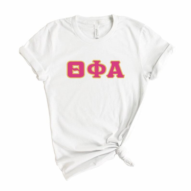 Sorority Big Little Gift Idea Theta Phi Alpha T-shirt Theta Phi Cute Letters Tee