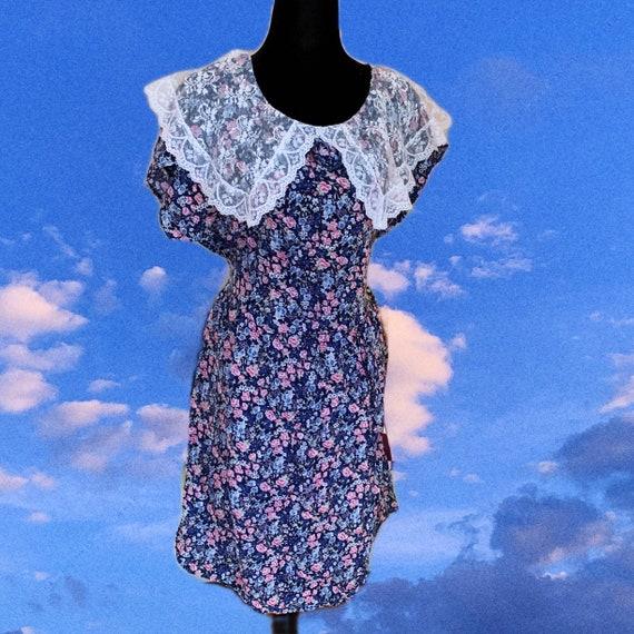 80s Floral Gunne Sax Dress