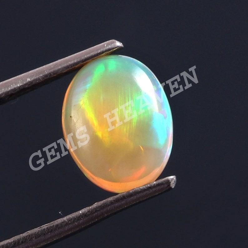 Opal Gemstone Opal Cabochon Welo Opal Oval Shape Gemstone | Top Quality Natural Ethiopian Opal 10X8 MM size Cabochon Fire Opal