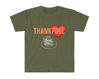 ThankFull Happy Thanksgiving Shirt Unisex Softstyle T-Shirt