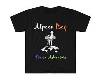 Alpaca Bag for an Adventure Unisex Softstyle T-Shirt