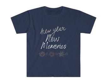 New Year New Memories, Happy New Years Unisex Softstyle T-Shirt