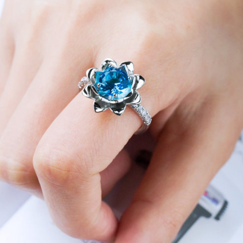 Fancy Ring Silver Plated Ring Gemstone Gift For Her Vintage Style Topaz Ring Handmade Jewellery Gemstone