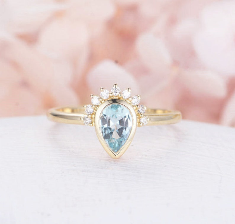Sky Blue Topaz Ring Gift For Mom Lab Created Sky Blue Topaz Ring Rings Bridesmaid Gift Gift Anniversary Gift Gift for her Jewelry Blue Topaz