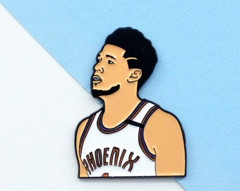 Devin Booker Phoenix Suns Soft Enamel Pin + Stickers Western Conference Champion