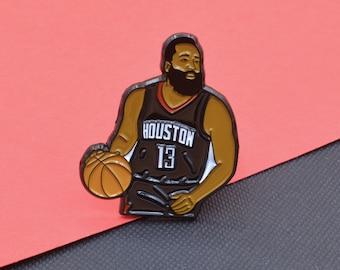 James Harden Houston Rockets Soft Enamel Pin