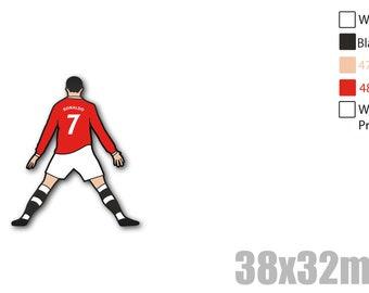 Cristiano Ronaldo United Soft enamel pin + Stickers