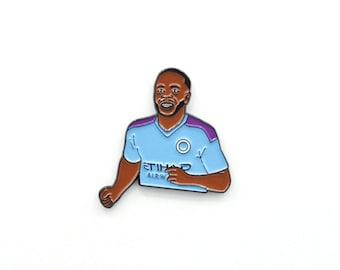 Raheem Sterling Manchester City FC Soft Enamel Pin