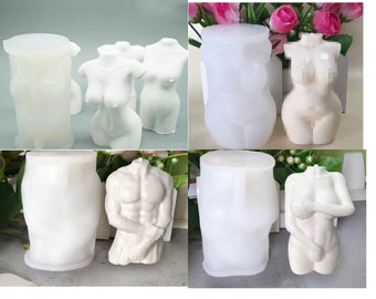 Woman Body / Man Body / Pregnant Body Silicone Mould DIY Craft Candle Soap Plaster