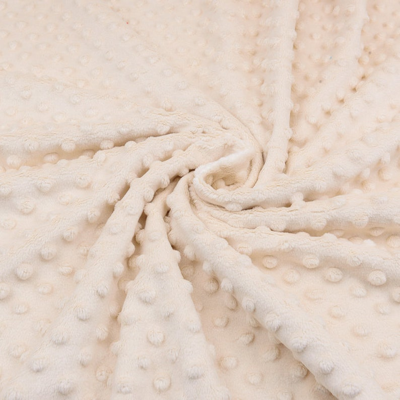 Beige minky plush Solid Dimple Minky Fabric from Highest Quality Fleece fabric wide 60