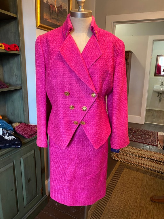 1980s hot pink suit
