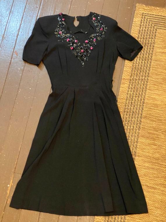 1940s beaded top dress