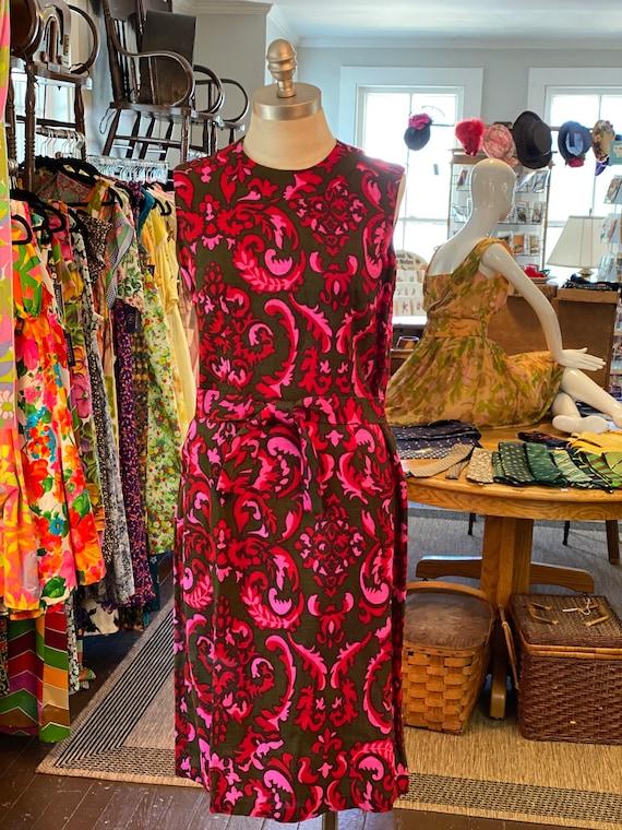 1960s linen dress