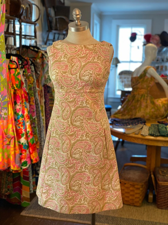 1960s tapestry dress with pockets
