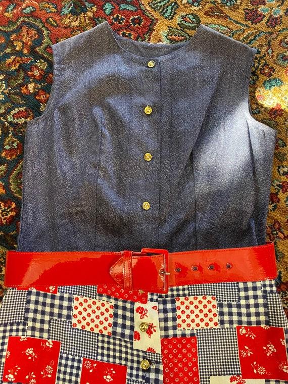 1970s patchwork jumper - image 2