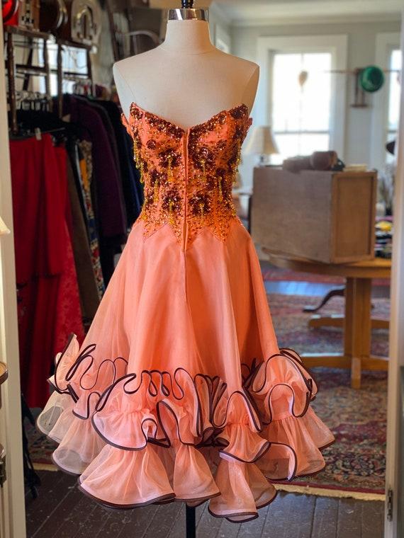1950s Showgirl Dress