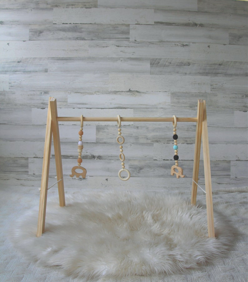 Wood Baby Gym  Baby Play Gym  Wooden Baby Play Gym  Natural image 0