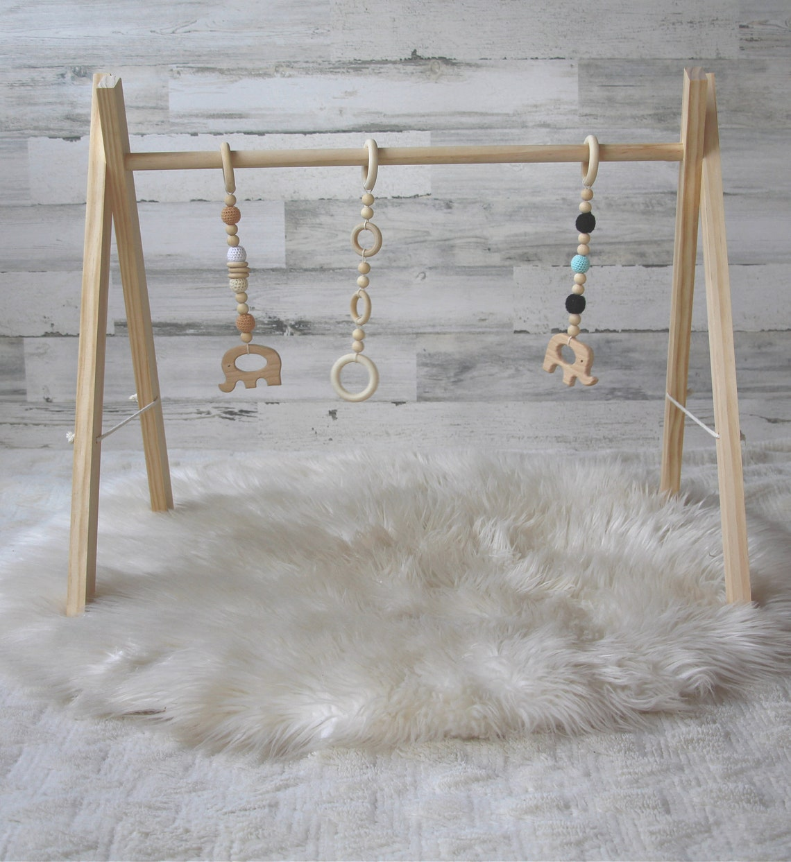 Natural Wood Baby Gym For Sales