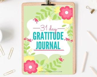 31-Day Gratitude Journal