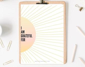 Sunburst Gratitude Worksheet
