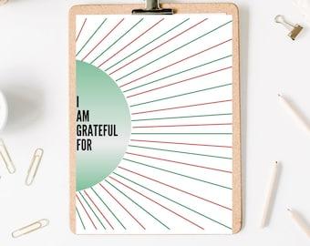 Sunburst Gratitude Christmas Worksheet
