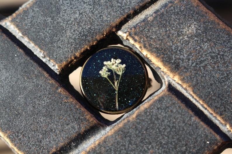 Flower Resin Ring White