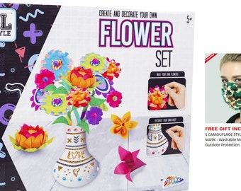 Grafix Create and Decorate Origami Flower Kit Art /& Crafts Sets Age 5+