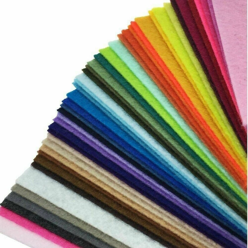 100 sheets standard A4 size 29.7x 21cm Standard 2mm thickness Tracked Delivery Felt sheets Assorted Jumbo Pack of Acrylic A4 Felt