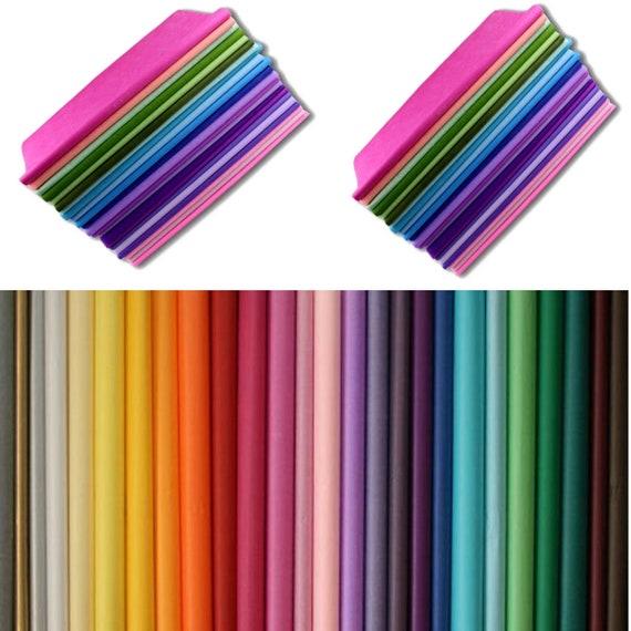 set of 10 sheets of silk tissue paper 50 x 75 orange new