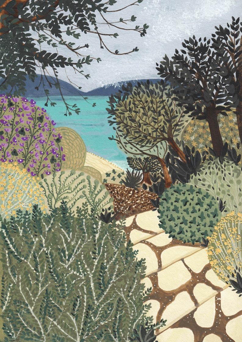 Mediterranean Print Sirmione Print Italy Landscape Print Garda Lake Print