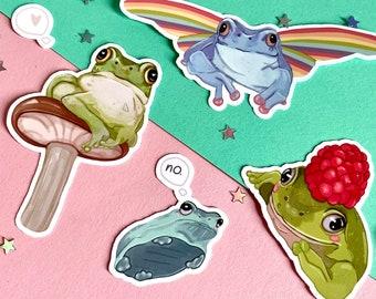Frog Stickers | Frog Buddies 2.0 | Sticker Pack | Laptop Sticker | Vinyl Sticker | Deco Stickers | Cute Sticker | Waterproof | Froggy