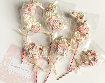 Meringue Pop Gift Bundle - Birthday - Baby shower - Anniversary - Christening - Hen party - Wedding favours - Cake decorations FAST DELIVERY